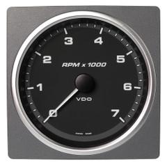 """VDO Marine 4-3\/8"""" (110mm) AcquaLink Tachometer 7000 RPM - 12\/24V - Black Dial  Bezel [A2C59501915]"""