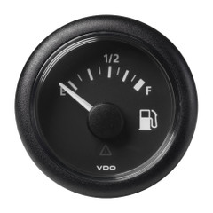 "VDO Marine 2-1\/16"" (52mm) ViewLine Fuel Level Gauge Empty-Full - 8-32V - 90-4 OHM - Black Dial  Round Bezel [A2C59514088]"