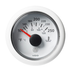"VDO Marine 2-1\/16"" (52mm) Viewline Temperature Gauge 120C\/250F - 8-32V - White Dial  Bezel [A2C59514241]"