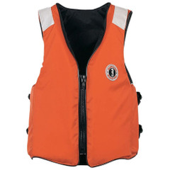 Mustang Classic Industrial Vest w\/SOLAS Tape - Orange - Small\/Medium [MV3196T2-S\/M-02]