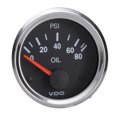 """VDO Vision 52mm (2-1\/16"""") Oil Pressure Gauge - 80 PSI [350-195]"""