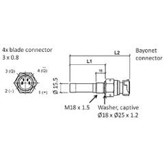 VDO Marine Speed  Revolution Sensor - 4 Pole, Insulated Return - 8-15V - 12MA - 90.2mm\/133mm Length [340-216-005-001C]