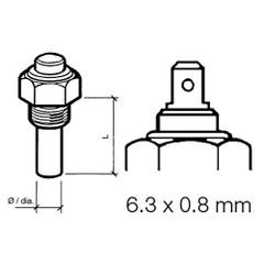 VDO Marine Engine Oil Temperature Sensor - Single Pole, Common Ground - 50-150C\/120-300F - 6\/24V - R 1\/2 Thread [323-801-004-003D]