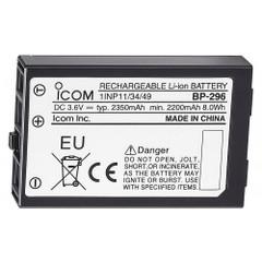 Icom BP-296 Li-Ion Battery - 3.6V - 2350mAh f\/M37 [BP296]