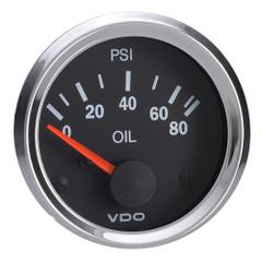 """VDO Vision 52mm (2-1\/16"""") Oil Pressure Gauge - 80 PSI - VDO Sender [350-194]"""