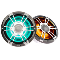 "FUSION SG-FL652SPC Signature Series 3 - 6.5"" CRGBW Speakers - Silver\/ Chrome Sports Grille [010-02432-11]"
