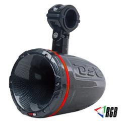 "DS18 HYDRO 1.75"" Driver Wakeboard Pod Tower Speaker w\/RGB LED Lights - 900W - Carbon Fiber - Single [CF-DT]"