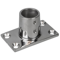 "Sea-Dog Rail Base Fitting Rectangular Base 90 - 316 Stainless Steel - 1-11\/16"" x 3"" - 7\/8"" O.D. [281900-1]"