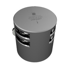 Lopolight Double Masthead Light - 5nm - Silver Housing - Horizontal Mount - CD\/CS ALU Base [301-011KLST]