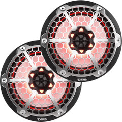 "DS18 New Edition HYDRO 8"" 2-Way Marine Speakers w\/RGB LED Lighting 375W - Black [NXL-8M\/BK]"
