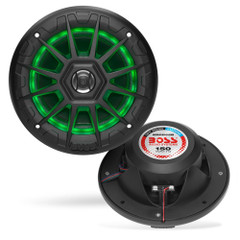 "Boss Audio MRGB55B 5.25"" Marine Speakers w\/RGB Lighting - Black [MRGB55B]"