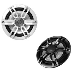 "Pioneer Audio 7.7"" RGB LED Speakers - Black  White Sport Grille Covers - 250W [TS-ME770FS]"