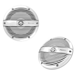 """Pioneer Audio 7.7"""" RGB LED Speakers - Classic White Grille Covers - 250W [TS-ME770FC]"""