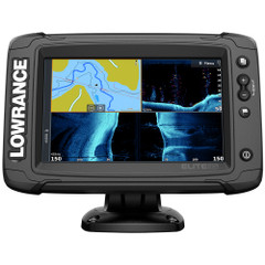 Lowrance Elite-7 Ti² Combo US Inland w\/Mid\/High Skimmer Transom Mount, Active Imaging 2-in-1 Transducer  Y Cable [000-14642-001]
