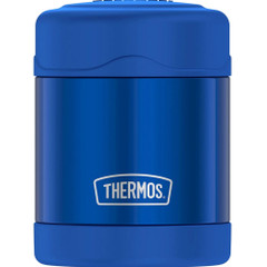 Thermos FUNtainer 10oz Stainless Steel Vacuum Insulated Food Jar 7 Hours Cold\/5 Hours Hot - Blue [F30019BL6]