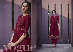 Maroon color Cotton Satin Fabric Top and Bottom