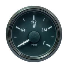 """VDO SingleViu 52MM (2-1\/16"""") Fuel Level Gauge - E\/F Scale - 90-5 Ohm [A2C3833150030]"""