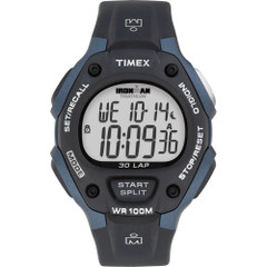 Timex IRONMAN Classic 30 Full-Size 38mm Watch - Grey\/Blue [T5H591]