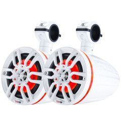 "DS18 X Series HYDRO 6.5"" Wakeboard Pod Tower Speaker w\/RGB LED Light - 300W - White [NXL-X6TP\/WH]"