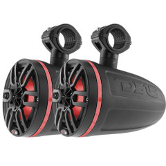 "DS18 X Series HYDRO 6.5"" Wakeboard Pod Tower Speaker w\/RGB LED Lights - 300W - Matte Black [NXL-X6TP\/BK]"
