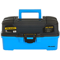 Plano 3-Tray Tackle Box w\/Dual Top Access - Smoke  Bright Blue [PLAMT6231]