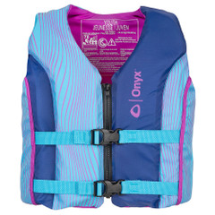 Onyx Shoal All Adventure Youth Paddle  Water Sports Life Jacket - Blue [121000-500-002-21]