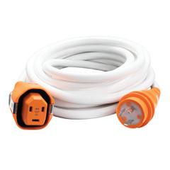 SmartPlug 30AMP\/125V Cordset Female, SmartPlug Boatside  30AMP Twist Type Dockside - White - 25 [C30253W]