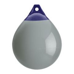 "Polyform A Series Buoy A-3 - 17"" Diameter - Grey - Boat Size 40 - 50 [A-3-GREY]"