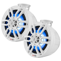 "DS18 HYDRO 8"" Compact Wakeboard Pod Tower w\/RGB Light - 375W - White [NXL-PS8W]"