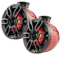 "DS18 HYDRO 8"" Compact Wakeboard Pod Tower w\/RGB Light - 375W - Red [NXL-PS8R]"