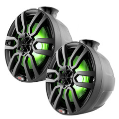 """DS18 HYDRO 8"""" Compact Wakeboard Pod Tower w\/RGB Light - 375W - Black [NXL-PS8BK]"""