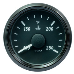 """VDO SingleViu 52mm (2-1\/16"""") Water Temp. Gauge - 250 F - 291-22 OHM [A2C3833350030]"""