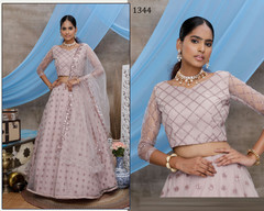 Ivory color Net Fabric Lehenga Choli