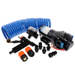 Jabsco HotShot HD4 Heavy Duty Washdown Pump w\/25 HoseCoil - 12V - 4 GPM - 60 PSI [Q401J-118N-4A]