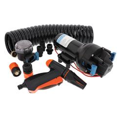 Jabsco HotShot HD6 Heavy Duty Washdown Pump w\/25 HoseCoil - 12V - 6 GPM - 70 PSI [P601J-219N-4A]