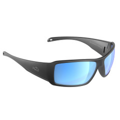 H2Optix Stream Sunglasses Matt Gun Metal, Grey Blue Flash Mirror Lens Cat.3 - AntiSalt Coating w\/Floatable Cord [H2021]