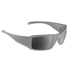 H2Optix Stream Sunglasses Matt Grey, Grey Silver Flash Mirror Lens Cat.3 - AntiSalt Coating w\/Floatable Cord [H2022]