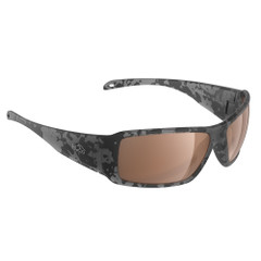 H2Optix Stream Sunglasses Matt Tiger Shark, Brown Lens Cat.3 - AntiSalt Coating w\/Floatable Cord [H2023]