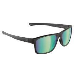 H2Optix Coronado Sunglasses Matt Black, Brown Green Flash Mirror Lens Cat. 3 - AR Coating [H2029]