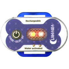 Lunasea Dog Safety Water Activated Strobe Light - RF Transmitter  Alarm Receiver - Blue Case  Blue Attention Light [LLB-63BB-D0-K4]