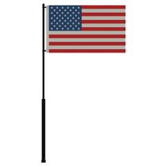 "Mate Series Flag Pole - 72"" w\/USA Flag [FP72USA]"