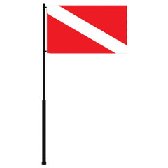 "Mate Series Flag Pole - 72"" w\/Dive Flag [FP72DIVE]"