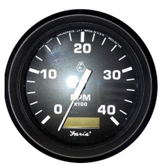"Faria 4"" OEM Tachometer w\/Hourmeter (4000 RPM) *Bulk Pack of 12 Gauges [TC9159B]"