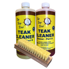 Tip Top Teak Cleaner Kit Part A  Part B w\/Brush [TK860]