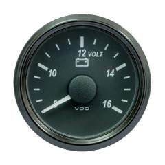 "VDO SingleViu 52mm (2-1\/16"") Voltmeter f\/12V Systems [A2C3832770030]"
