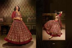 Gorgeous Maroon Soft Net Lehenga Choli1749