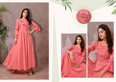 Pink color Heavy Rayon Fabric Gown