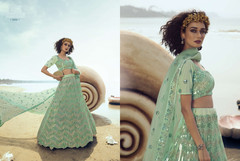 Light Green color Soft Net Fabric Lehenga Choli