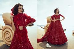 Red color Soft Net Fabric Lehenga Choli