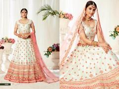 White color Net Fabric Lehenga Choli